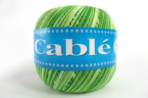 Cable 5 melanż - 9203 - Zielony